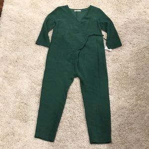Zara girls green trend jumpsuit size 10